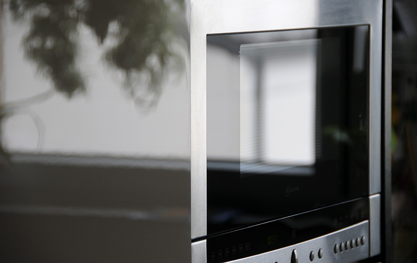 Gray Color Inverter Microwave